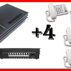 KIT CENTRALINO DIGI 2 LINEE 4 TELEFONI