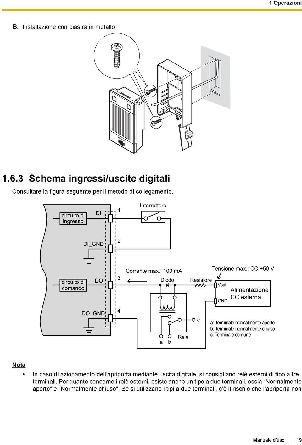 Schema videocitofono ntv